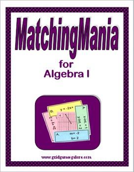 Algebra I MatchingMania Book