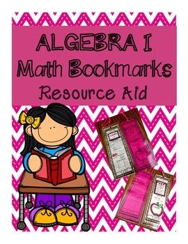 Algebra I Math Bookmark - Resource and Fact Aid