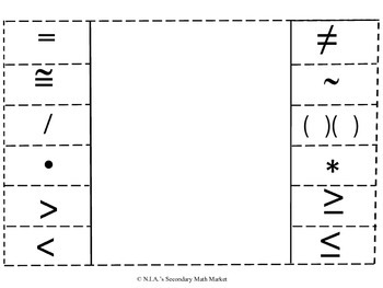 Algebra I Math Symbols
