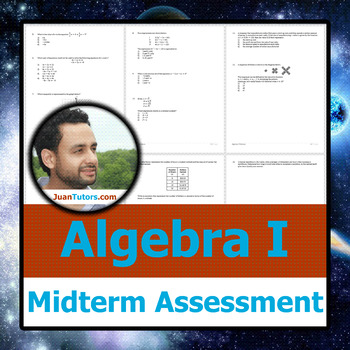 Algebra I Midterm Test + Student-Ready Solution Set