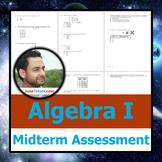 NY Algebra I Midterm Test+Student-Ready Solutions (Common