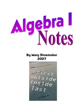 Algebra I Notes/Overheads