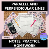 Algebra I Parallel and Perpendicular Lines Notes Practice