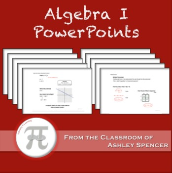 Algebra I PowerPoints - Full Year Bundle
