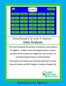 Powerpoint Q and A Game - Data Analysis