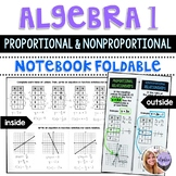 Algebra 1 - Proportional and Nonproportional Relationships Graphing Foldable