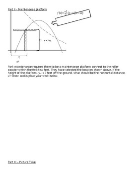 Algebra I Quadratics Performance Task