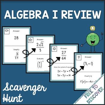 Algebra I Review Scavenger Hunt