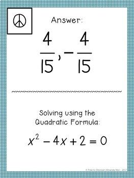 Algebra 1 Review Activity - Scavenger Hunt