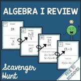 Algebra 1 Review Scavenger Hunt Activity
