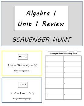 Algebra I Review for Unit 1