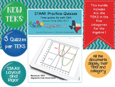 STAAR Practice-Quizzes, Algebra I, All New TEKS and All Ca