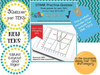 STAAR-Practice Quiz, Category 1, TEKS A.10(A)
