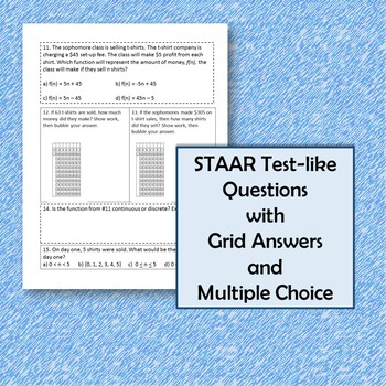Algebra I STAAR Objective 2 Review