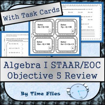 Algebra I STAAR Objective 5 Review