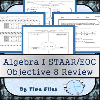 Algebra I STAAR/EOC - Objective 8 Review by Time Flies | TpT