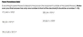 Algebra I Scientific Notation Lesson (Concept Attainment)