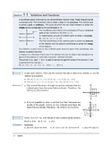 Algebra I: Section 11: Relations and Functions