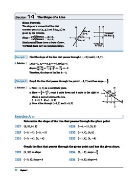 Algebra I: Section 14: The Slope of the Line