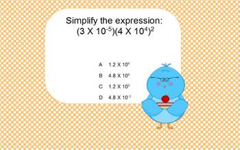 Algebra I Simplifying Expressions for use with Expressions