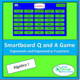 Algebra 1 - Smartboard Q and A Game - Exponents and Expone
