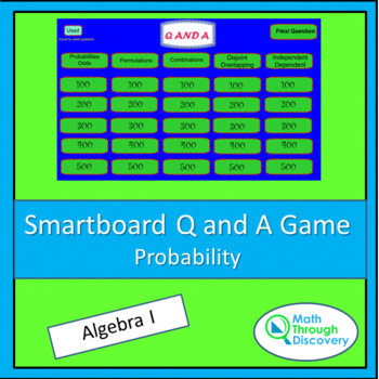 Smartboard Q and A Game - Probability