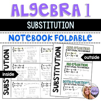 Algebra 1 - Solving Systems of Linear Equations by Substitution Foldable