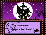 Halloween:  Algebra I Story Problems