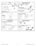 Algebra I Study Guide