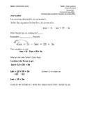 Algebra I Study Guide: Literal Equations, Mixture Problems