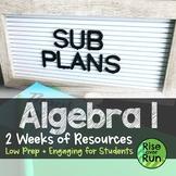 Algebra I Sub Plans Bundle