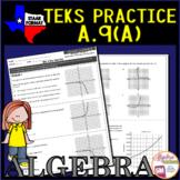 Algebra 1 TEKS A.9A Exponential Functions Domain & Range