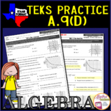 Algebra 1 STAAR TEKS A.9D Exponential Functions Graphing