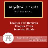 Algebra I Tests - Full Year Bundle