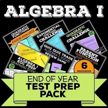 Algebra I Test Prep Pack, Common Core