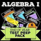 Algebra 1 Review, Test Prep Pack, Common Core Bundle