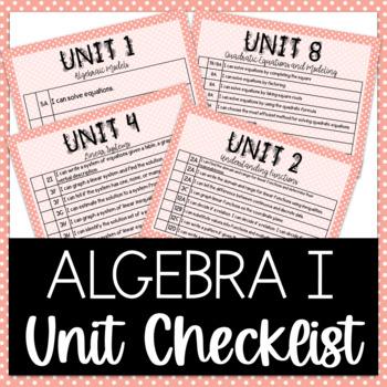 Algebra I - Unit Learning Target Checklist