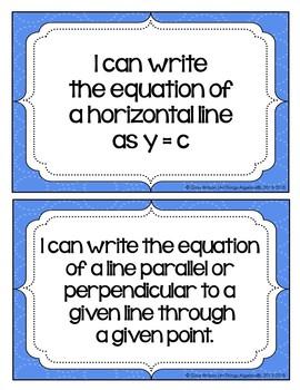 "Algebra I: Virginia SOL ""I Can"" Statements"