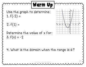 Algebra I Warm Ups Entire Year - Year Long Set
