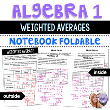 Algebra I - Weighted Average, Mixture, and Uniform Motion