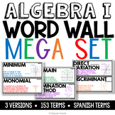 Algebra I Word Wall