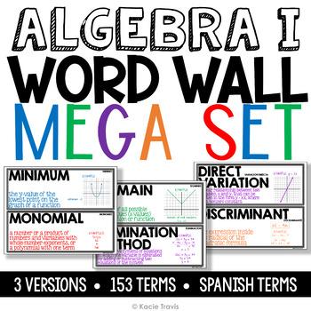 Algebra I Word Wall by Kacie Travis | Teachers Pay Teachers