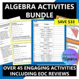 Algebra I Year Long Activities Bundle