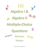 Algebra I and Algebra II Multiple Choice Questions