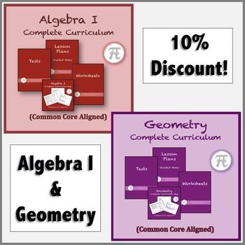 Algebra I and Geometry Curriculum