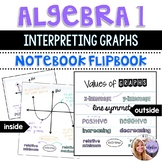 Algebra 1 - Interpreting Graphs of Functions - Flip Book