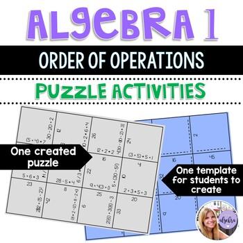 Algebra 1 - Order of Operations PEMDAS - Puzzle Cards