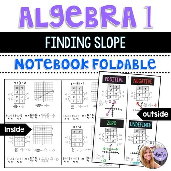 Algebra I and Grade 8 Middle School Math - Slope Foldable