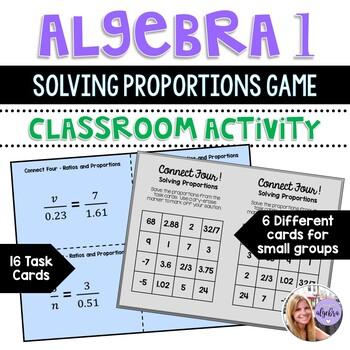 Algebra I and Grade 8 Middle School Math - Solving Proport
