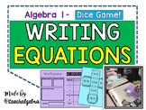 Algebra 1 - Writing Linear Equations - 3 Dice Game with Scoreboard